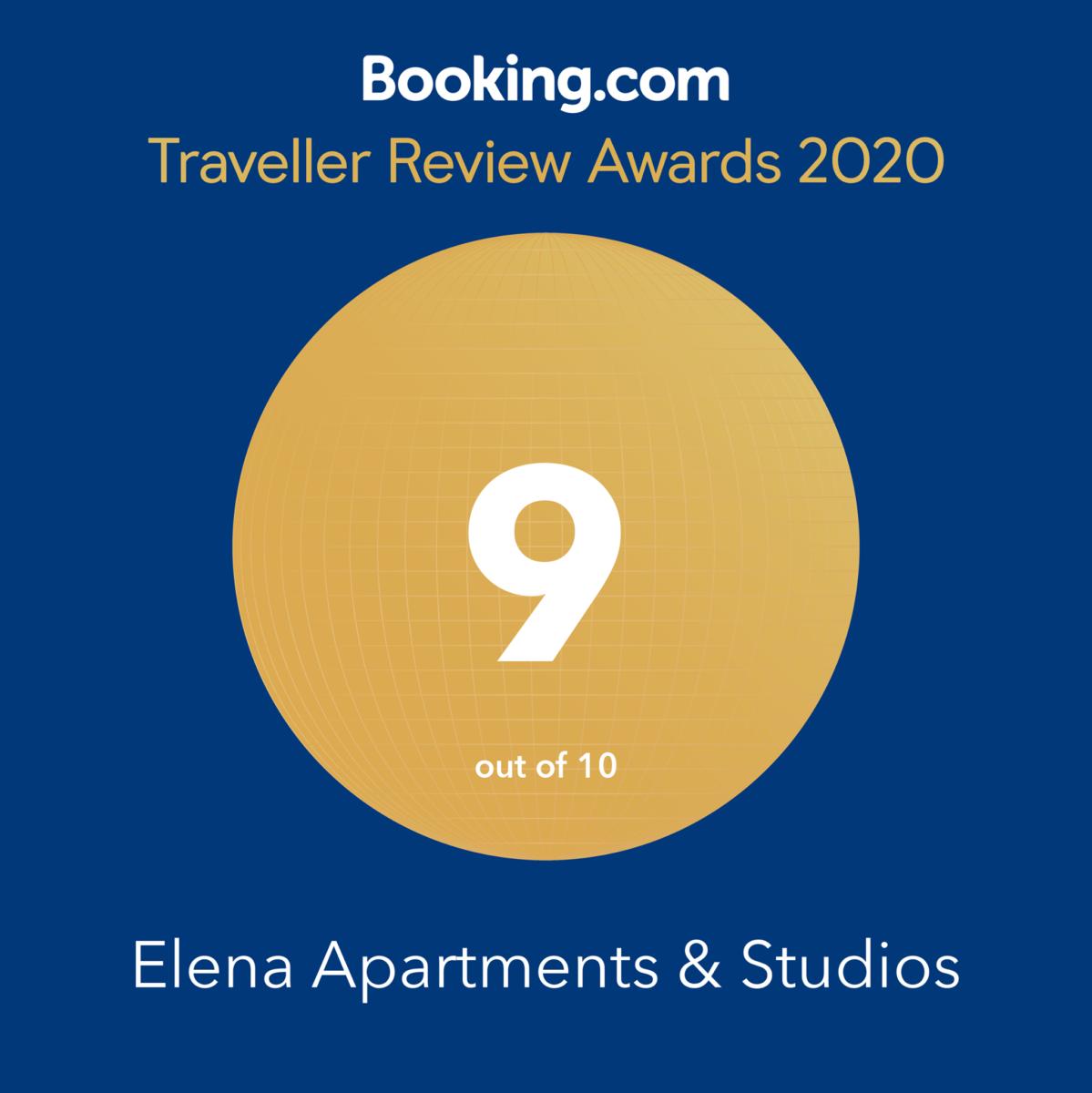 Booking Traveller Review Award 2020